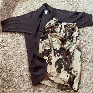 2 pc Dress Barn sleeveless blouse with cardigan